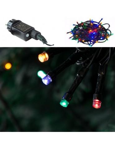 Luces Led Navidad Multicolor Exterior 100 LEDS detalle luces