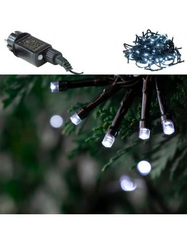 Luces Led Navidad Blancas Exterior 100 LEDS detalle