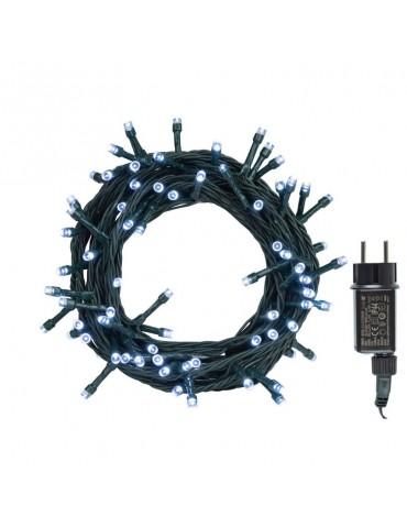 Luces Navidad Blancas Exterior 100 LEDS con enchufe programador