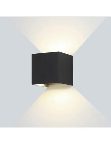 Aplique pared Led 6w Cubo Negro Doble cara