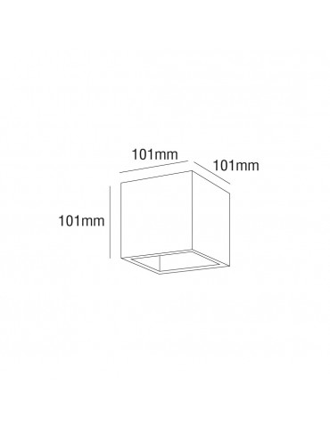 Aplique pared Led 6w Cubo Gris Doble cara dimensiones