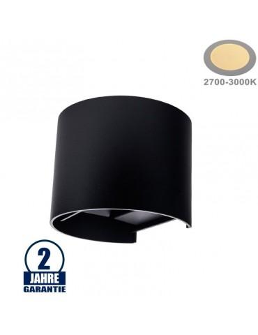 Aplique pared Led 6w Curvo Negro Doble cara tipo de luz
