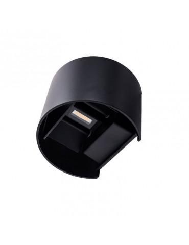 Aplique pared Led 6w Curvo Negro Doble cara vistas