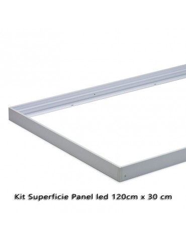 KIT DE MONTAJE EN SUPERFICIE PANEL LED 120x30cm