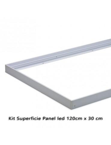 KIT DE MONTAJE EN SUPERFICIE PANEL LED 120x30cm