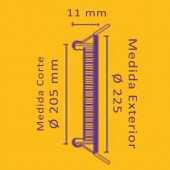PANEL LED Downlight 18W Circular Empotrable Slim Plata