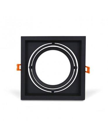 Aro de empotrar KARDAN AR111 basculante Cuadrado Negro