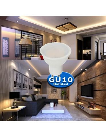 PACK 10u.LED dicroica GU10 multiled 6W 230V HTPC Aluminio