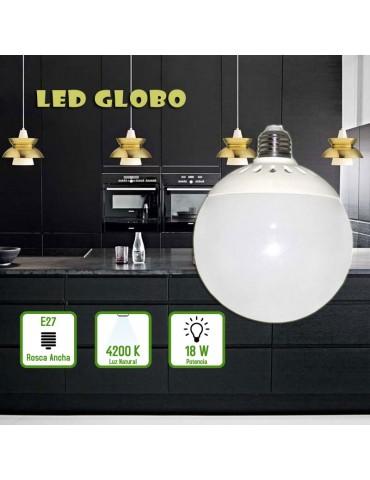 Bombilla LED GLOBO G120 18W E27 230V foto
