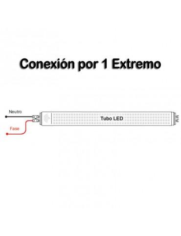 REGLETA ALUMINIO 60 cm PORTATUBO LED T8 CONEX 1 EXTREMO