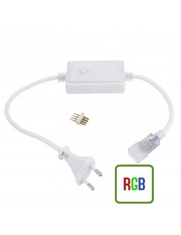 Conector para Tiras de Led RGB a 230V IP65