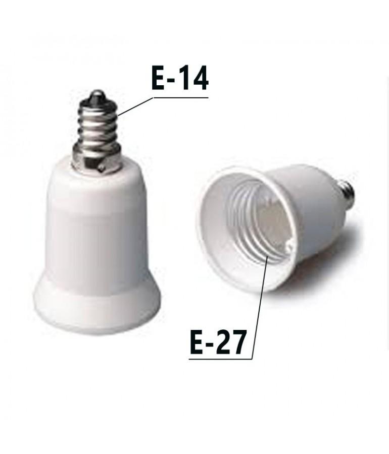 Adaptador Rosca E14-E27 230V