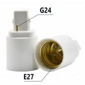 Adaptador Rosca G24-E27 230V