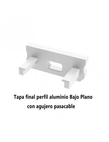 Tapa final con agujero perfil aluminio BAJO Tira led