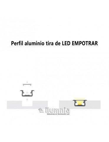 "PERFIL ALUMINIO EMPOTRAR ""Z"" TIRA DE LED"