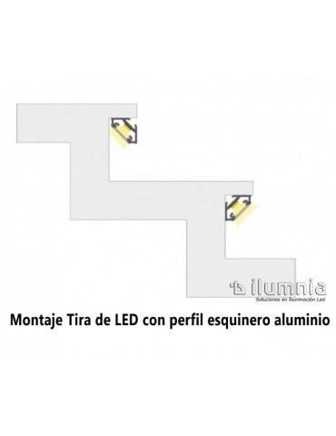 "PERFIL ALUMINIO ANGULO 45° ""C"" TIRA DE LED"