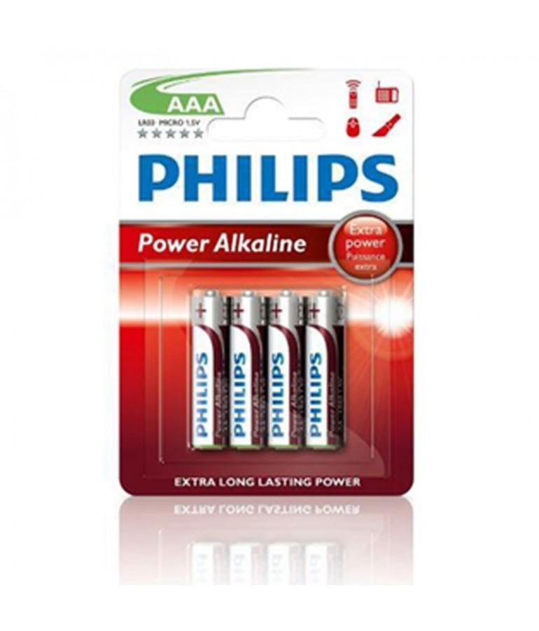 PILAS AAA LR03 1,5V ALKALINAS BLISTER 4 UNIDADES