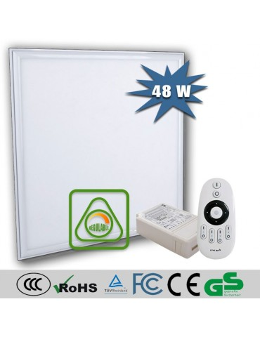 PANEL LED FLAT 48W REGULABLE DIMMABLE CON MANDO 600x600mm