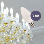 LED Vela C37 E14 7W HTPC+ALUMINIO 180°