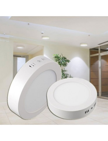 PANEL LED Downlight circular 12W plano de superficie