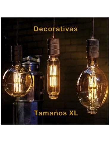 LED VINTAGE RETRO GIGANTE XL BT180 8W E27 230V CRISTAL 360°