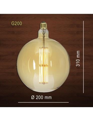 LED VINTAGE RETRO GIGANTE XL G200 8W E27 230V CRISTAL 360°