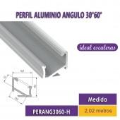 PERFIL ALUMINIO ANGULO 30°60°