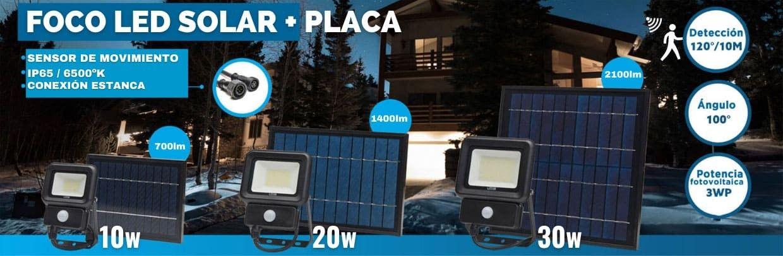Foco solar con sensor de movimiento