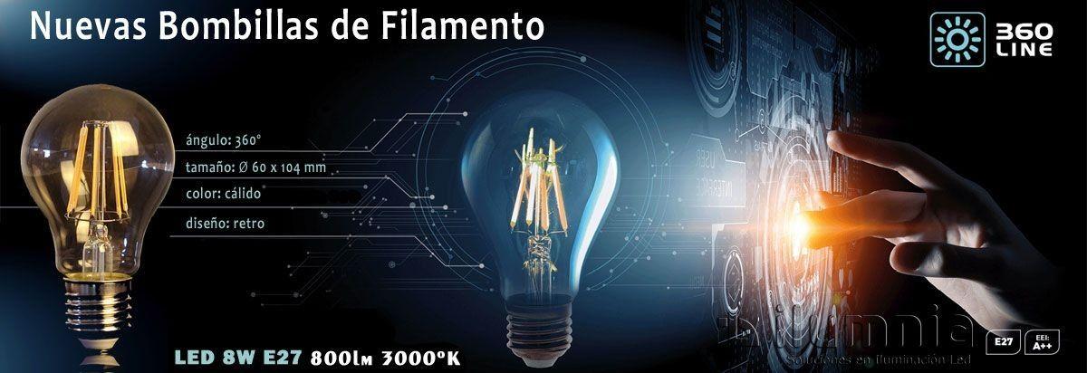 Bombillas LED de filamento vintage
