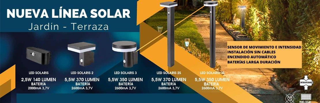 Nueva colección Línea solar LED Jardín Terraza.